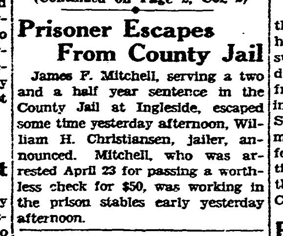 SF Chronicle, 12 Sept 1929.