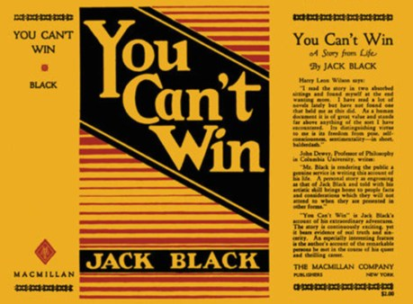 Original cover of Jack Black 1926 memoir.