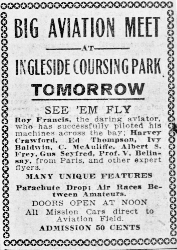 1912Nov23-SFCall-p14-IngelsideCoursingPark-Aviation-meet