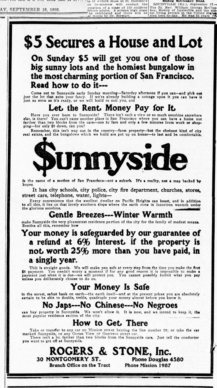 1909Sep18-EXAMINER-roger-stone-RE-AD-SS-nonegroes