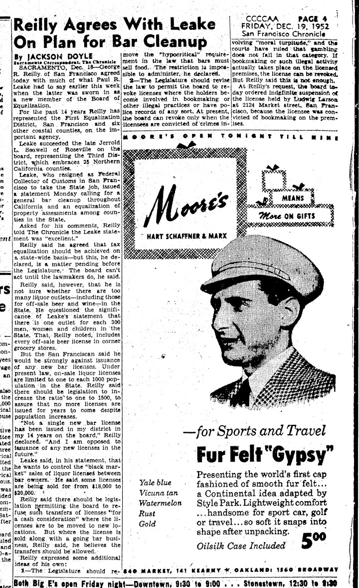 1952Dec19-Chron-Reilly-bar-cleanup