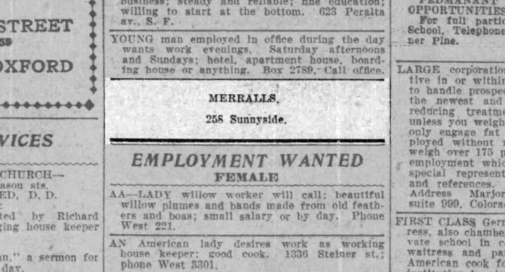 1911Jul23-sfcall-p46-weird-class-ad-Employmentwanted-male--Merralls