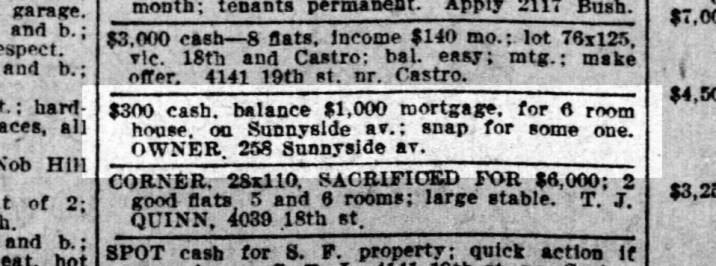 SF Call, 9 Feb 1913. This is not the Merralls own house. California Digital Newspaper Collection.