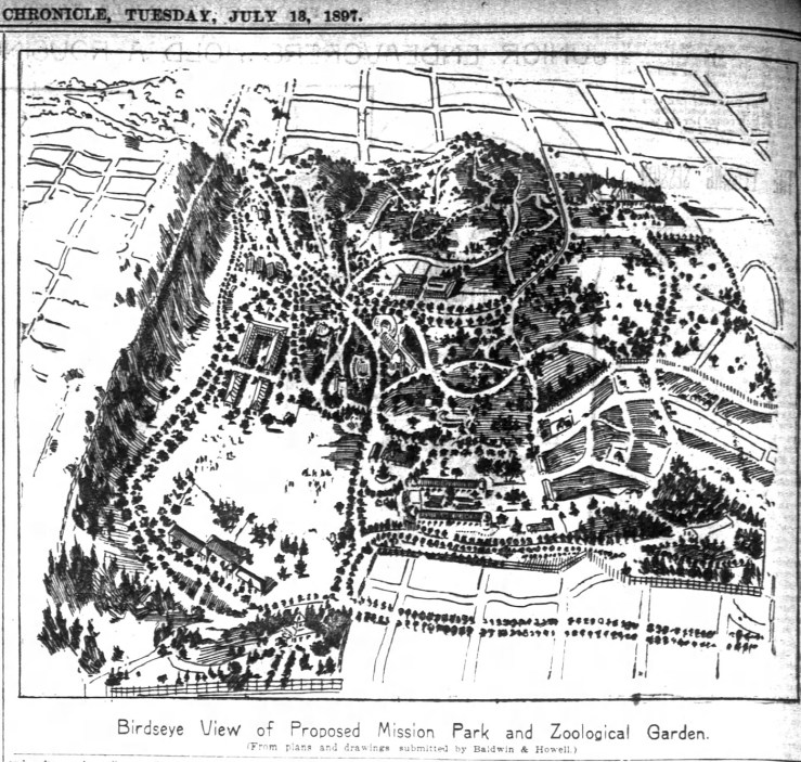 Ambitious plan for the Mission Park and Zoo. SF Chronicle, 13 Jul 1897.