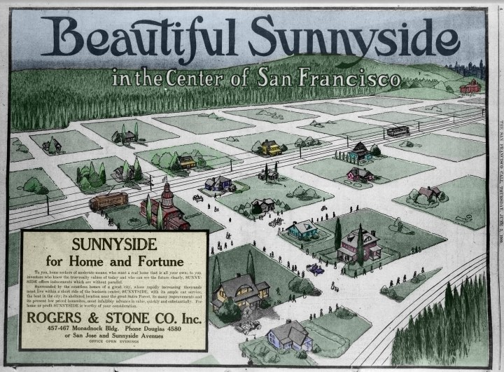 Colorized version of page from Sunnyside supplement, SF Call, 3 Jun 1909. Altered by Amy O'Hair.