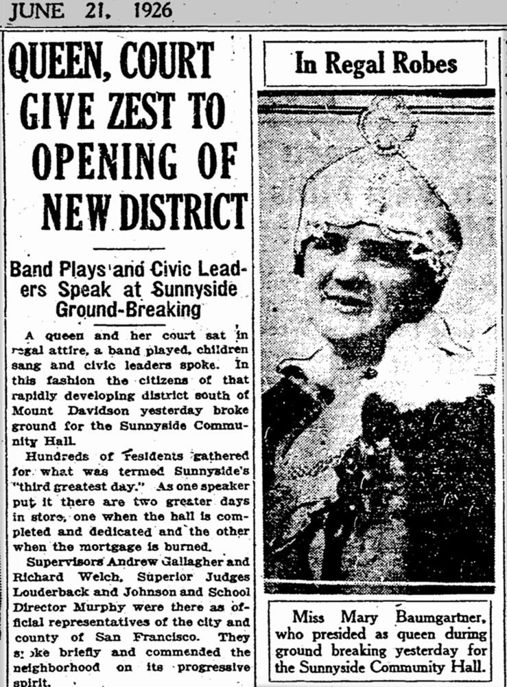 SF Chronicle, 21 Jun 1926.