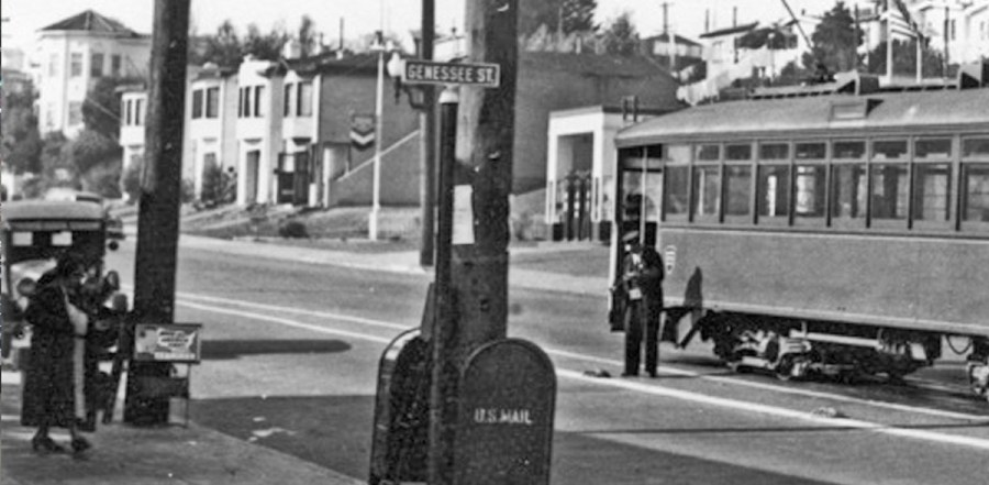 1940. Monterey and Gennessee. OpenSFHistory.org.