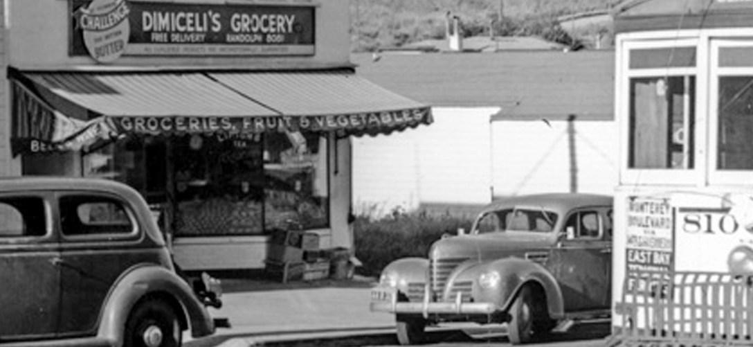 1941. Monterey east of Foerster. OpenSFHistory.org.