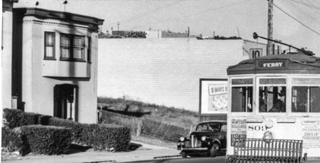 1941. Monterey west of Foerster. OpenSFHIstory.org.