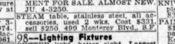SF Examiner, 10 Jul 1949.