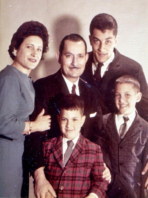 1963c. The Versaggi family. Clockwise from upper left: Annie, Saverio, Charles, Salvatore, and Robert. Photo courtesy Charles Versaggi.