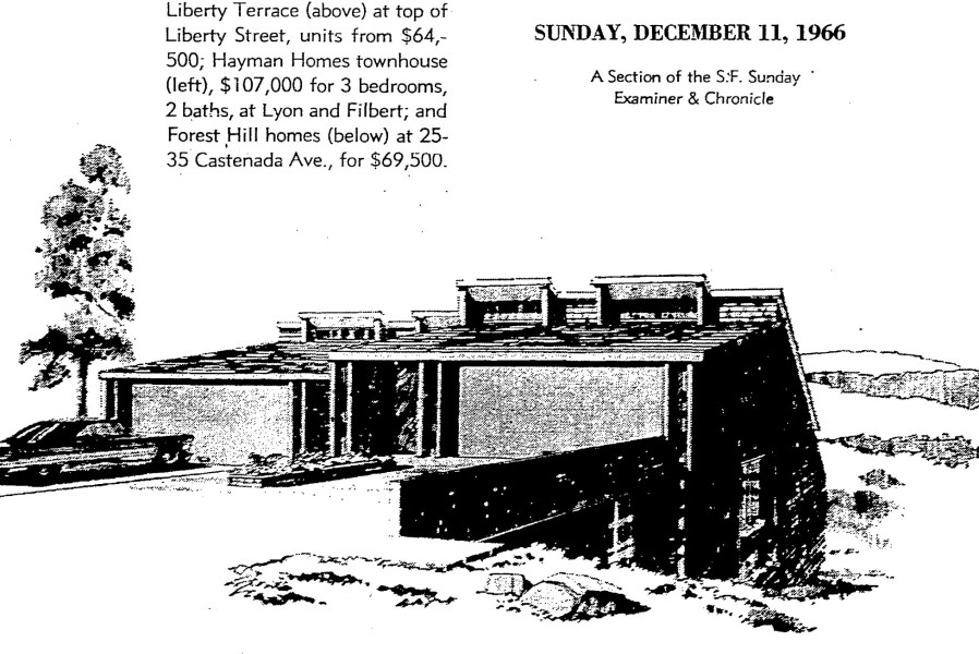 SF Chronicle, 11 Dec 1966. Feature, 25-35 Castenada Ave.