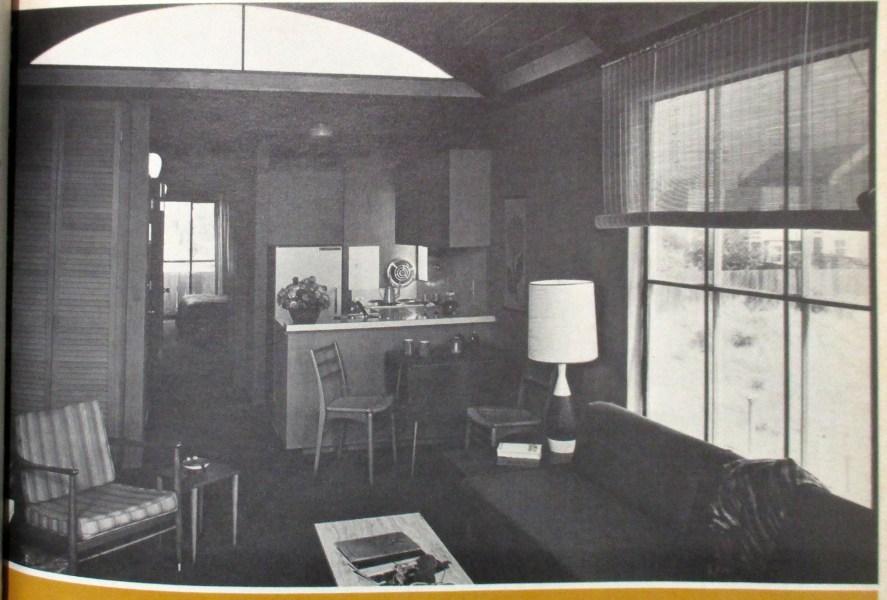 Progressive Architecture, July 1967. Image of interior, 975 Carolina Street, built 1961. Designed by Bulkley.