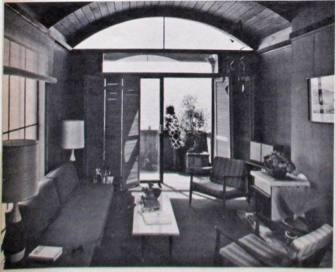 Progressive Architecture, July 1967. Image of interior, 975 Carolina Street, built 1961. Designed by Bulkley.
