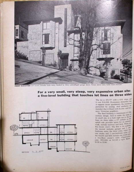 House and Home, June 1967. 300 Hill Street, built 1965. Designed by Bulkley.
