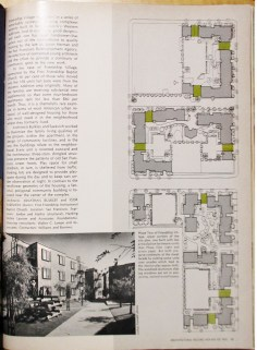 Architectural Record, Mid-May 1972. Feature: Friendship Village, built 1971. Designed by Bulkley.