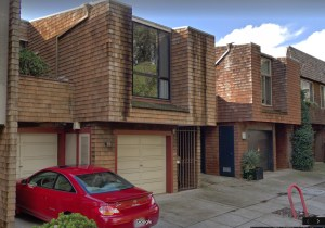 2018. Four units at 56-64 Museum Way. Designed by Jonathan Bulkley in 1967. Google streetview.