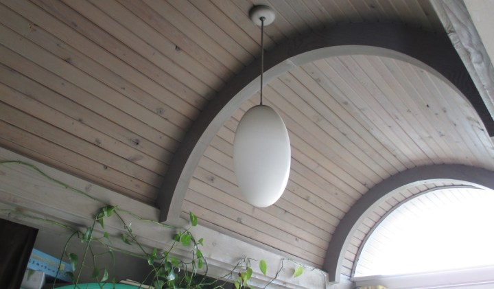 2019. An original lighting fixture [tentative], interior, 420 Monterey. Photo: Amy O'Hair.