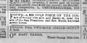 SF Chronicle, 25 Aug 1891.