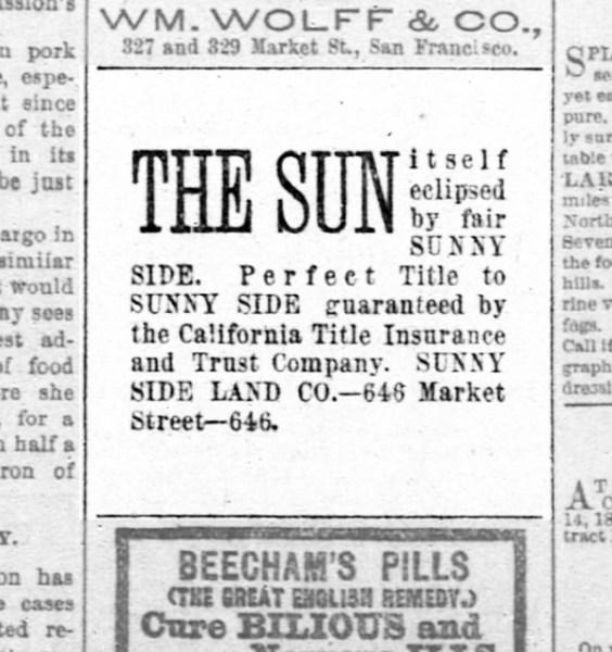 SF Chronicle, 17 Jul 1891.