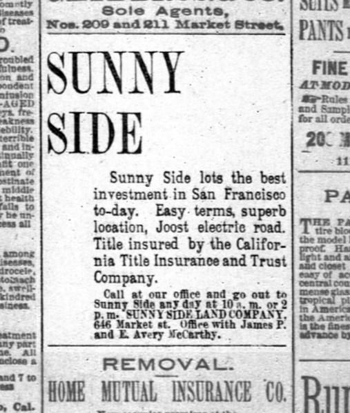 SF Chronicle, 28 Jul 1891.