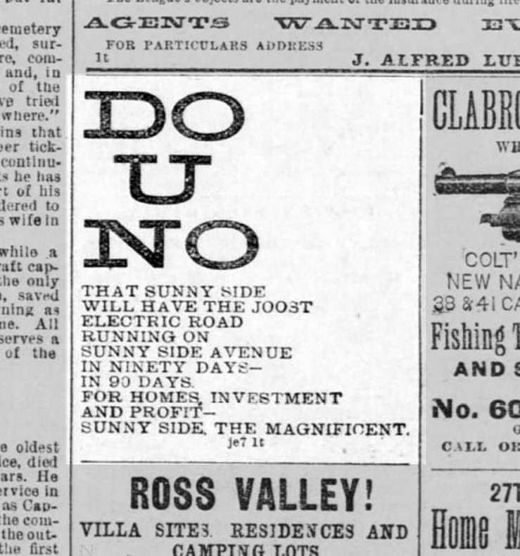 SF Call, 7 Jun 1891.