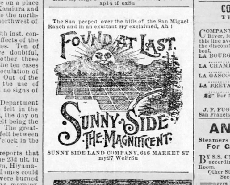 SF Call, 27 May 1891.