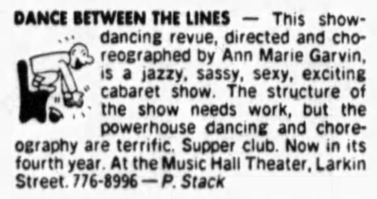 SF Examiner, 12 May 1985. This same review ran from 1981 to 1985. Newspapers.com.