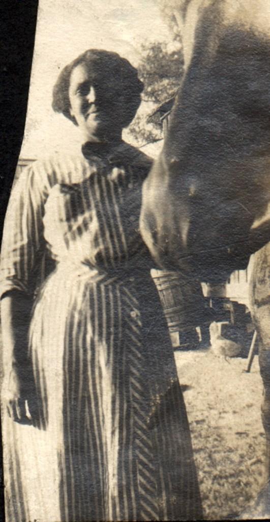 1913c. Frances Tyrrel in Farmersville. Courtesy Charles Reid/Ivy Reid Collection.