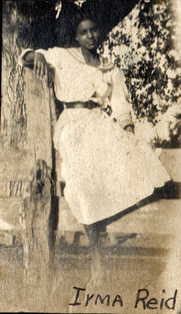 1915c. Irma Reid in Farmersville. Courtesy Charles Reid/Ivy Reid Collection.