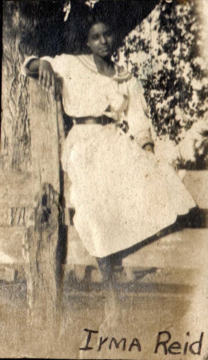 1915c. Irma Reid in Farmersville. Courtesy Charles Reid/Ivy Reid Collection.