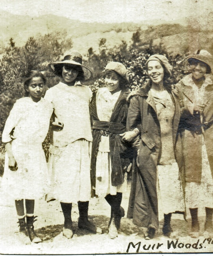 1919. An outing to Muir Woods for Irma Reid (second from right) and members of her extended family. Courtesy Charles Reid/Ivy Reid Collection.