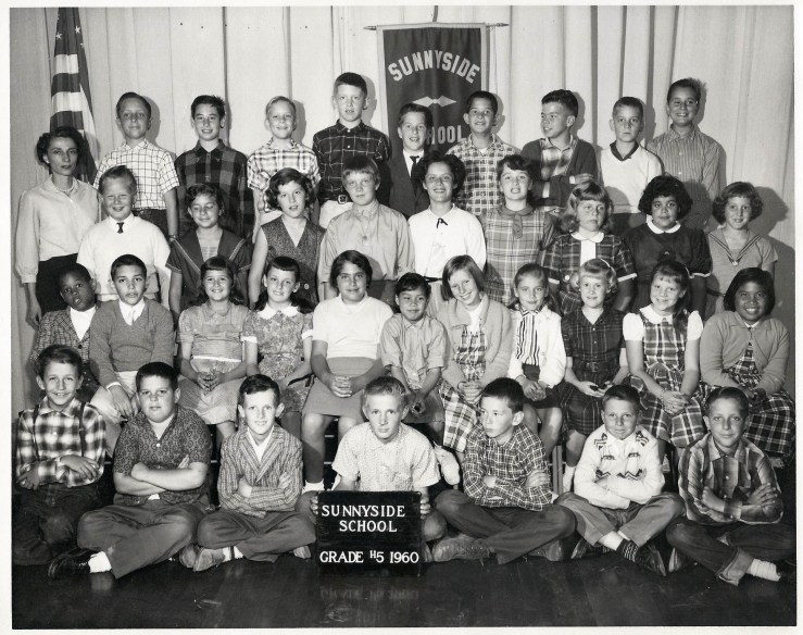 Fifth grade, Sunnyside Elementary School, 1960. Courtesy Julie Spalasso Vozza.