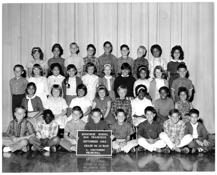 Fourth/fifth grade, Sunnyside Elementary School, 1963. Courtesy Marty Hackett.