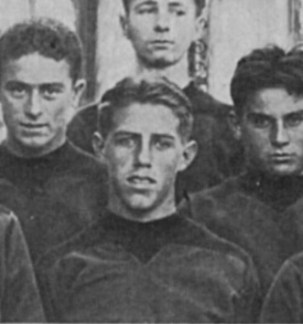 Clay Chipps, captain of basketball team, Balboa HS yearbook, 1933.