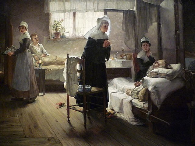 640px-Samuel_Richards_-_Evangeline_Discovering_Her_Affianced_in_the_Hospital_(c1887-89)_wikimedia