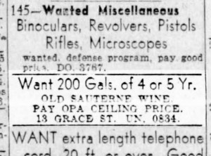 This endeavor may remain ever a mystery. SF Examiner, 16 May 1943.