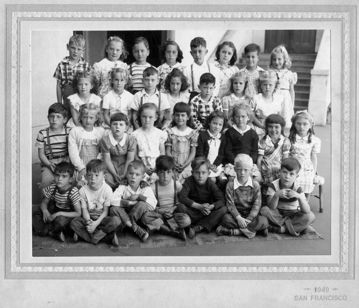First grade, Sunnyside Elementary School, 1949. Courtesy Alan Hansen.