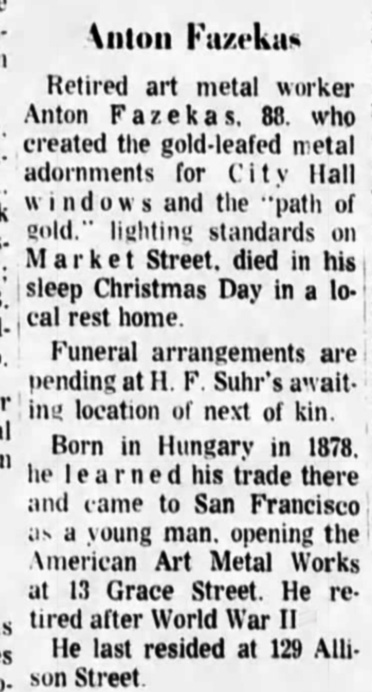 SF Examiner, 28 Dec 1966. Newspapers.com