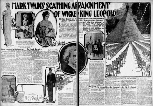 Twain's Soliloquy excerpted in the Sunday paper, with many of its images. SF Examiner, 15 Oct 1905. Newspapers.com