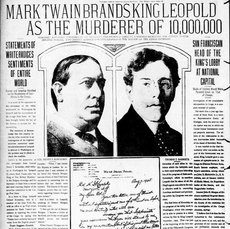 SF Examiner, 23 Dec 1906. Henry Kowalsky is pictured on the left. Newspapers.com