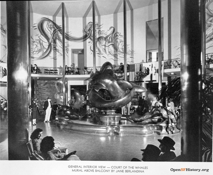 The Whales by Robert Howard, in the San Francisco building at the Golden Gate International Exposition in 1939. OpenSFHistory.org