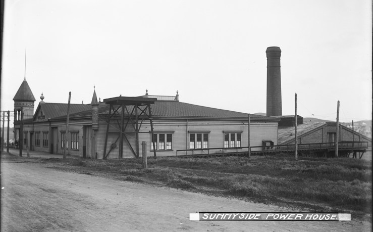 1904. Sunnyside Powerhouse, viewed from the west side on Monterey near Baden Street. Courtesy SFMTA sfmta.photoshelter.com