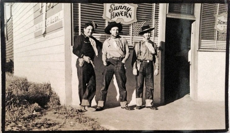 "1945c. Tony Molinari (center) owner of bar ""Sunny Havern"" at 558 Monterey Blvd. Courtesy Michelle Molinari."