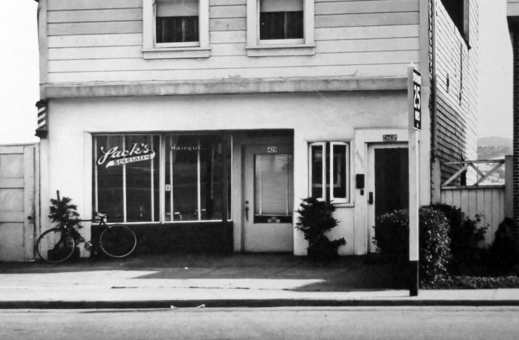 1955. 429 Monterey Blvd. Jack Specialty Barber Shop, mid-1940s to early 1980s. San Francisco Office of Assessor-Recorder Photographs Collection, San Francisco History Center, San Francisco Public Library sfpl.org/sfphotos/asr