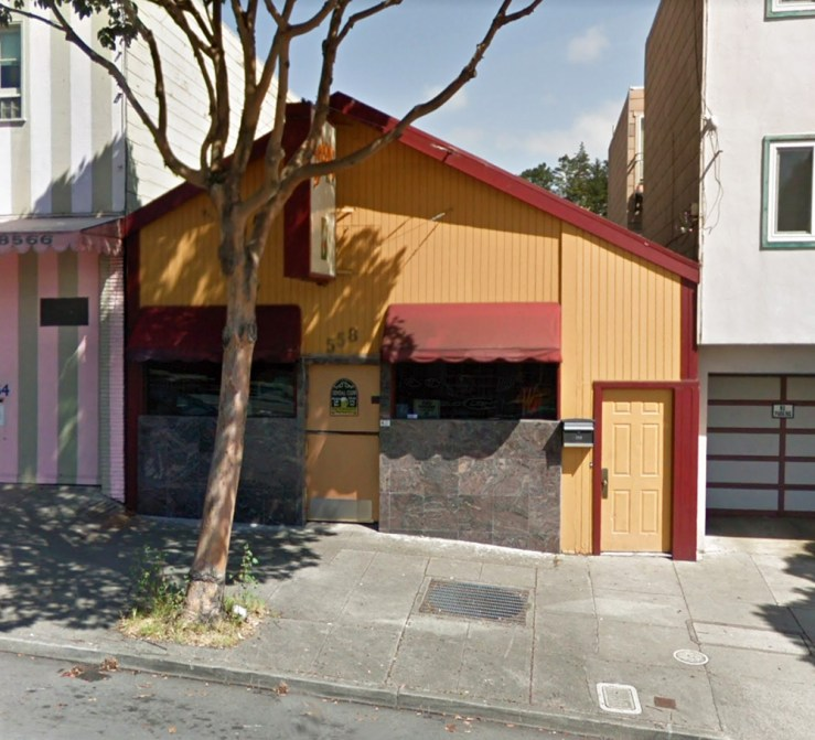 2017. 558 Monterey Blvd. Friends Bar, since 1990s? Photo: Google streetview