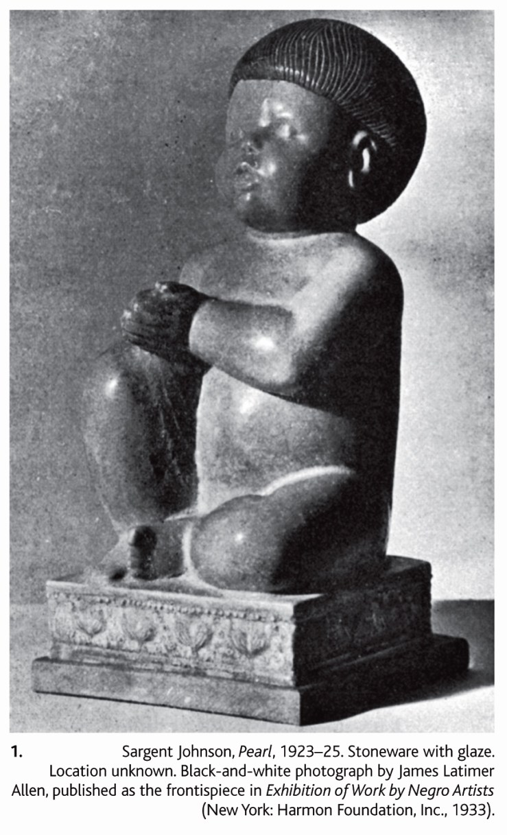 "Sargent Johnson, Pearl, 1923-25. From ""New Negro on the Pacific Rim: Sargent Johnson's Afro-Asian Sculptures,"" John P. Bowles."