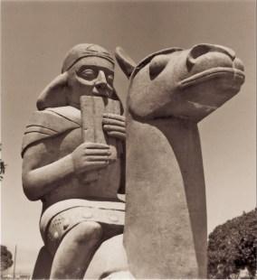 Sargent Johnson, Llama, 1939. Golden Gate International Exposition. Photo: Richard A Shuff, 1989. Treasure Island Museum.