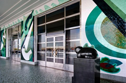 Sargent Johnson, tiled mural at the Maritime Museum, 1936c. From DesignBoom.com, where it is misattributed to Hilaire Hiller.