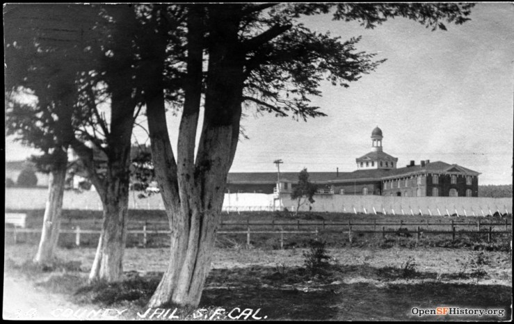 1910s. View of Ingleside Jail looking west from the site of the current Ingleside Police Station, on Sgt John V Young Lane. OpenSFHistory.org